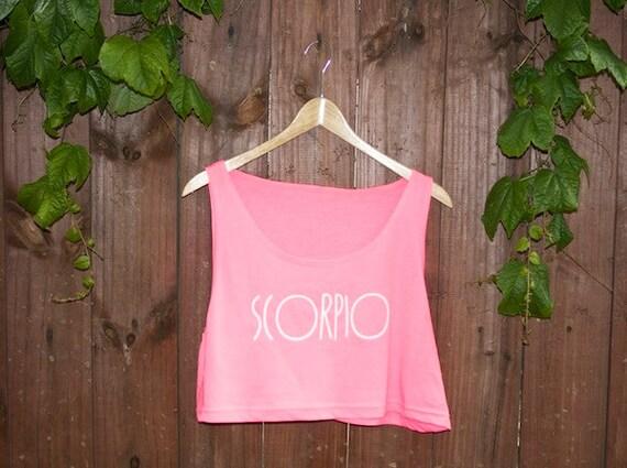 ZODIAC - SCORPIO Neon Pink Crop Tank
