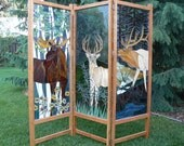 Three Panel Wildlife Free Standing Room Screen(Depost on this item)