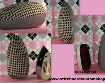MADE TO ORDER - Custom Handmade Extra-Large Professional Size Tailor's Pressing Ham with the Fabric of your Choice