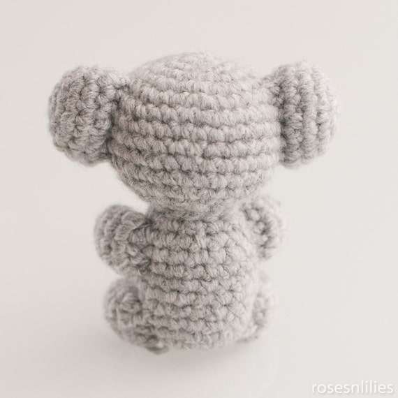 Amigurumi Koala Keychain : Amigurumi Koala Bear (in 3 sizes) Crochet Pattern PDF from ...