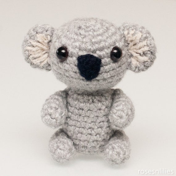Crochet Pattern Koala Bear : Amigurumi Koala Bear in 3 sizes Crochet Pattern by ...
