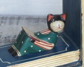 Wooden Cat Bookend - reduced