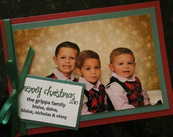 Christmas Card with attached hanging tag