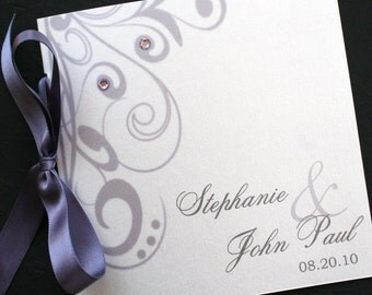 Flourishing Elegance Square Wedding Program