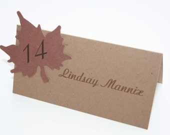 Autumn Leaves Place Card