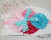 SHIPS on Oct 23rd... 20% off ENTIRE PURCHASE... flower headband.. baby headbands.. infant, toddler, adult... chick.. Easter Headband