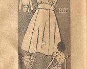 Rare Teen 1940s Mail Order Anne Adams Dress Pattern/4556