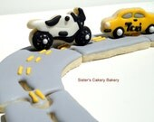 3-D Car, Motorcycle, and Road Cookies 1 dozen