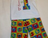 personalized boys sesame street birthday outfit