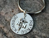 Custom Hand Stamped Male Nursing Keychain