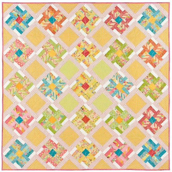 Spring Blooms Quilt Pattern by lnownes on Etsy