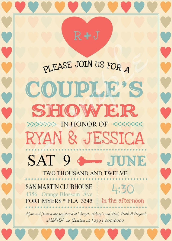 Bridal Shower Invitations Couples Bridal Shower Invitations Free - Couples wedding shower invitations templates free