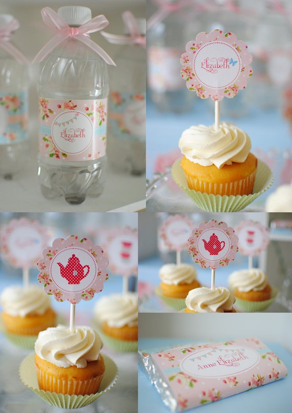 Pink Floral Shabby Chic Complete Birthday Tea Party Package