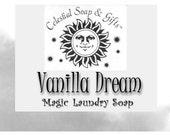 Vanilla Dream 2 pounds 12 oz  Natural VEGAN Laundry Soap Powder Detergent Bag. - 40-80 LOADS Gross Wt. 44 oz.