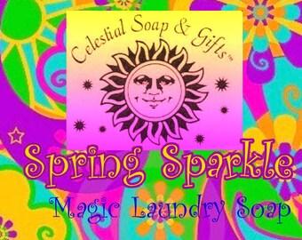 Spring Sparkle Natural VEGAN Laundry Soap Powder Detergent SAMPLE 6 oz.  5-10 Loads SALE