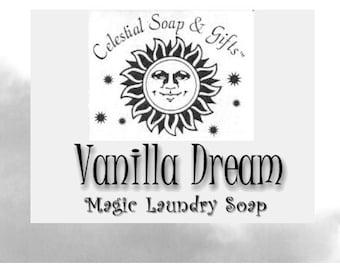Vanilla Dream  Natural VEGAN Laundry Soap Powder Bag - 40-80 LOADS Gross Wt. 44 oz. Detergent