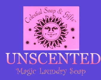 UNSCENTED  Natural VEGAN Laundry Soap Powder Bag  - 40-80 LOADS Gross Wt. 44oz.