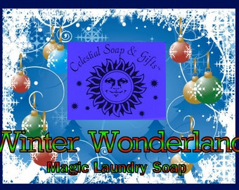 Winter Wonderland LIMITED Edition Natural VEGAN Laundry Soap Powder Bag 40-80 Loads Gross Wt. 44 oz.