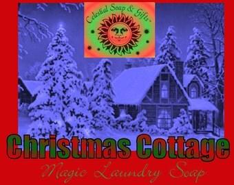 Christmas Cottage LIMITED Edition Natural VEGAN Laundry Soap Powder 6 oz. 5-10 Loads SAMPLE