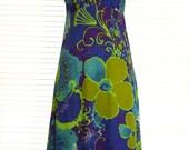 Harriet's Hawaiian Long Vintage Seventies Dress