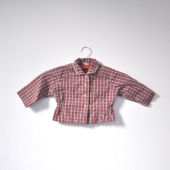 Vintage 60's Plaid Button Up Jacket (18 months - 2T)