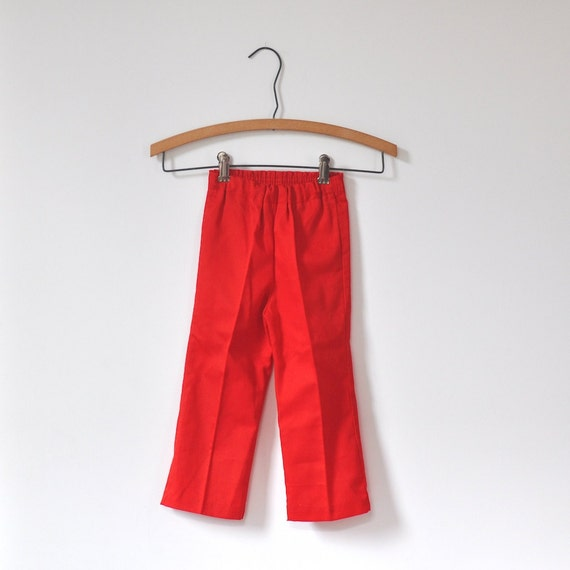Vintage Red Girls Evy of California Pants (3T)