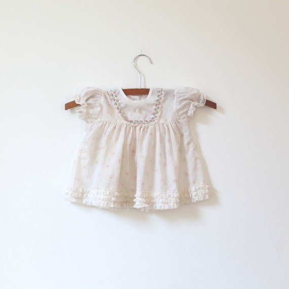 Vintage Lace Ruffle Dress (6-12 months)