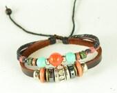 Pendant Bracelet Leather Bracelet Bangle Bracelet Jewelry Bracelet Charm Bracele (H01)