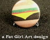 Cheeseburger 1-inch pin/button