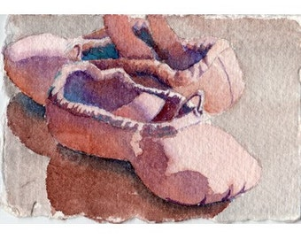 ATC ACEO Childs ballet shoes