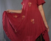 Cotton Tunic with Handmade Embroidery