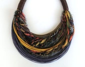 Multicolored Wool Necklace  Autumn - Winter Collection