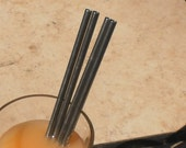 Stainless Steel Straws Regular Style - 4 Pack - Reusable and Eco Friendly - Lifetime Guarantee