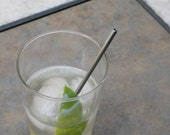 Stainless Steel Cocktail Straws - 4 Pack - Reusable and Eco Friendly - Lifetime Guarantee