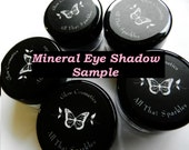 Sample Pack SAMPLE FIVE Mineral EyeShadows. Vegan, Talc Free, No Preservatives