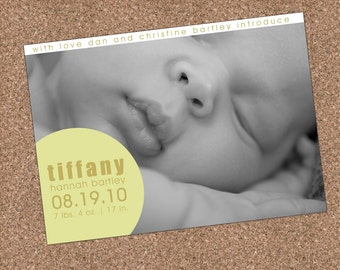 Custom Photo Birth Announcement - Tiffany