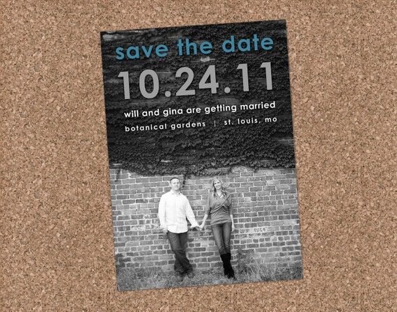Save the Date - Modern Engagement Announcement - Gina