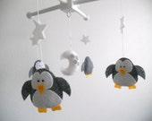 Baby Crib Mobile-Penguins Mobile-custom Made Mobile
