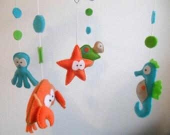 Baby Crib Mobile-Sea Animals Mobile-custom Made Mobile