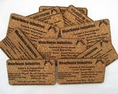 Custom Cork business Cards   (set of 24)