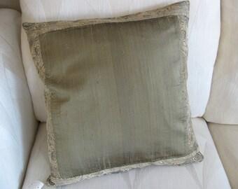 Lovely Green Pillow Cover  18 x 18