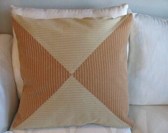 Striped Diamond Pillow Cover 22 x 22