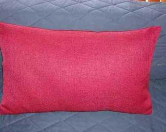 16 X 26 Red Pillow Cover