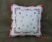 Christmas Hankerchief Pillow