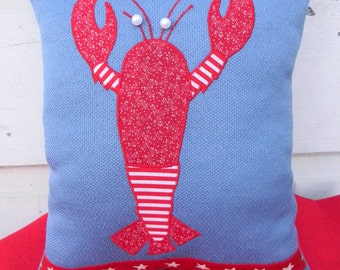 Happy Lobster Pillow