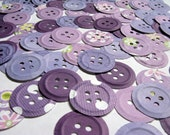 100 Punched Buttons, Purple Collection, all one size
