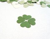 200 Punched Hearts, Green, Cream, Confetti