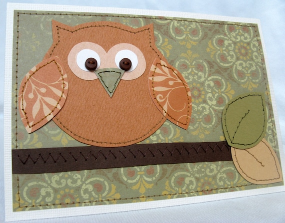 Autumn Owl Card