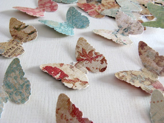 Shabby Chic Butterflies Punches 100