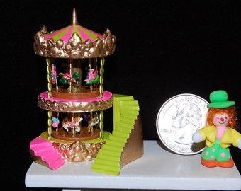 Dollhouse Miniature Carousel Kit- Choose From 33 Animals.